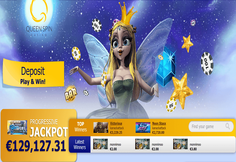 QueenSpin Casino Home Page