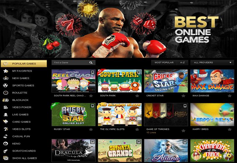 RealDealBet Casino Games
