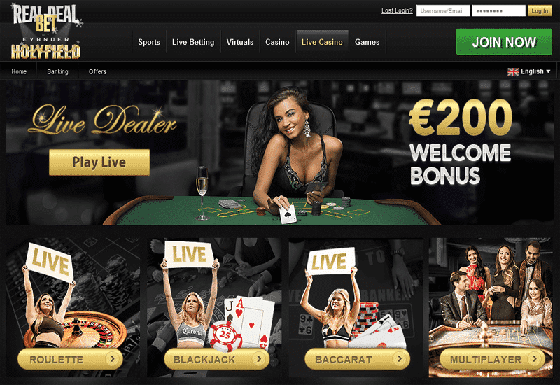 RealDealBet Casino Live