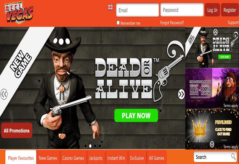 Reel Vegas Casino Home Page