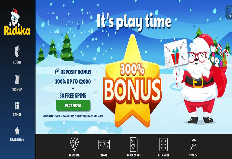 Ridika Casino Home Page