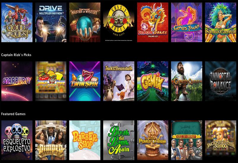 Rizk Casino Video Slots