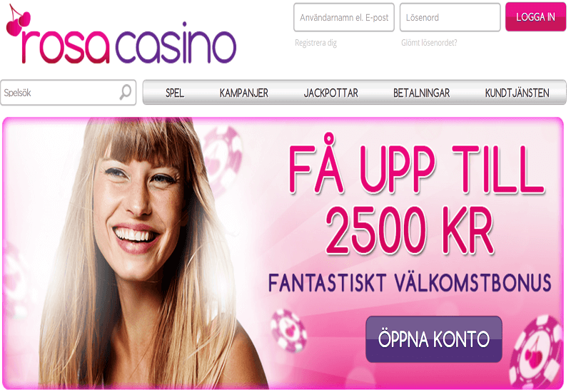 Rosa Casino Home Page