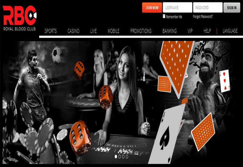 Royal Blood Club Casino Home Page