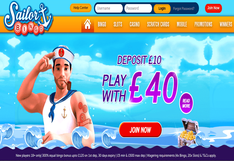 Sailor Casino Home Page