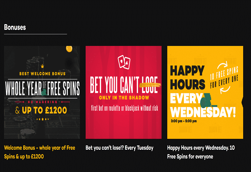 Shadow Bet Casino Promotion