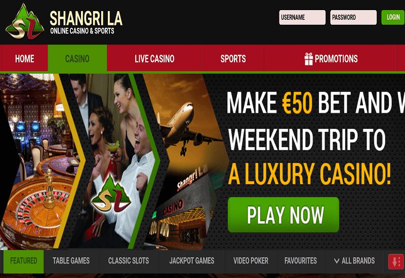 Shangri La Casino Home Page