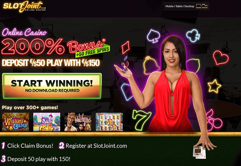 Slot Joint Casino Promotion