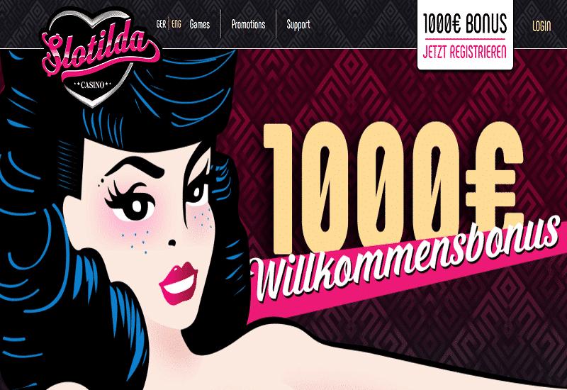 Slotilda Casino Home Page