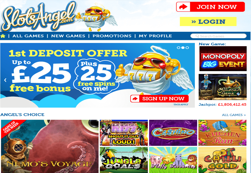 Slots Angel Casino Home