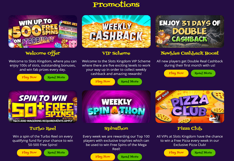 Slots Kingdom Casino Promotion