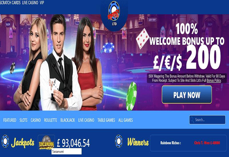 Slots Ltd Casino Home Page