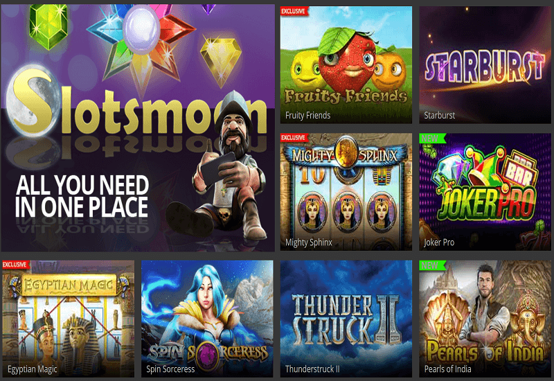 Slotsmoon Casino Video Slots