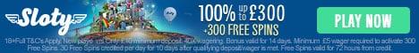 Sloty Casino Bonus And Review
