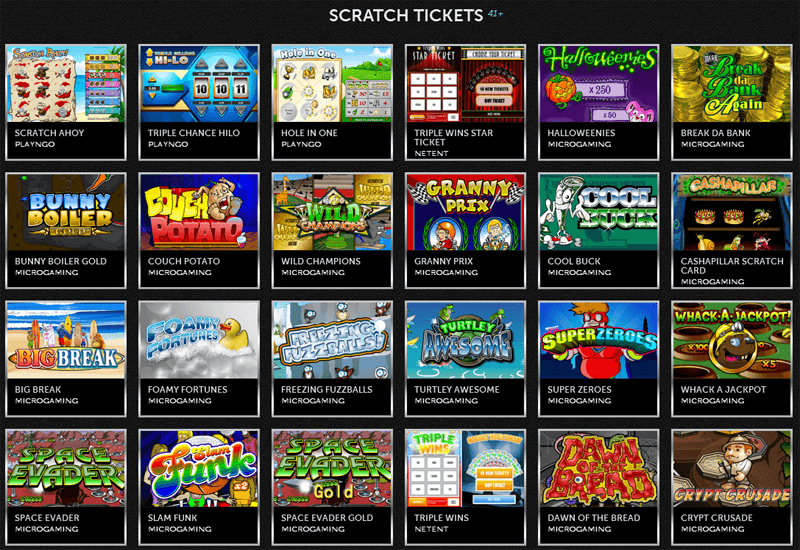 Spinson Casino Scratch Tickets