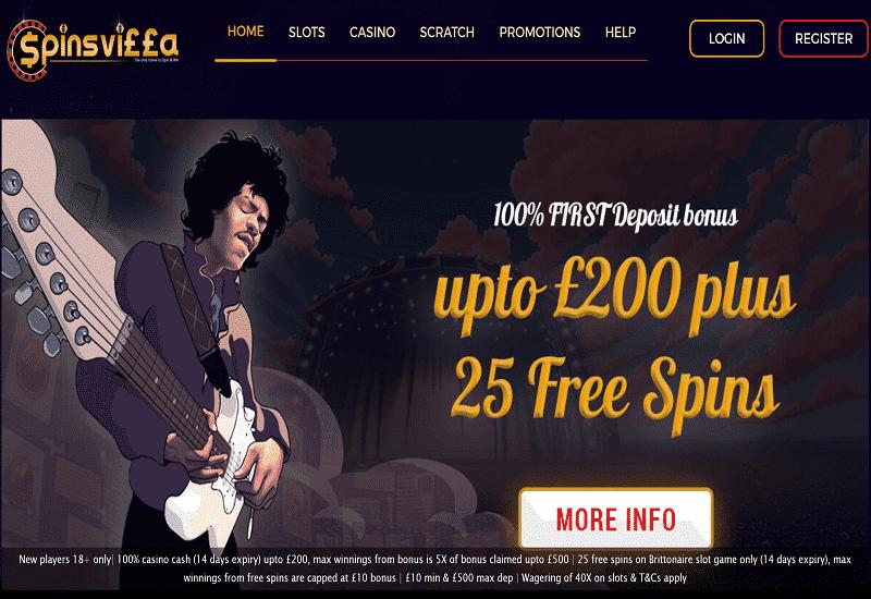 Spinsvilla Casino Home Page