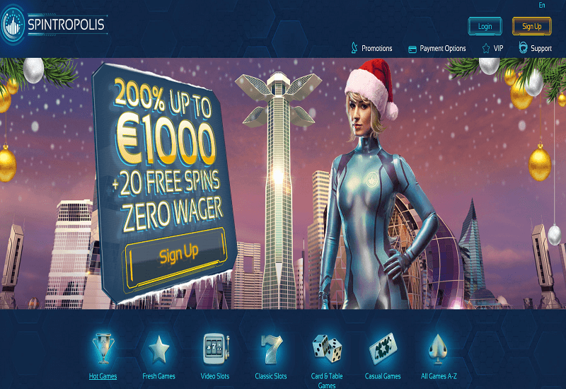 Spintropolis Casino Home Page