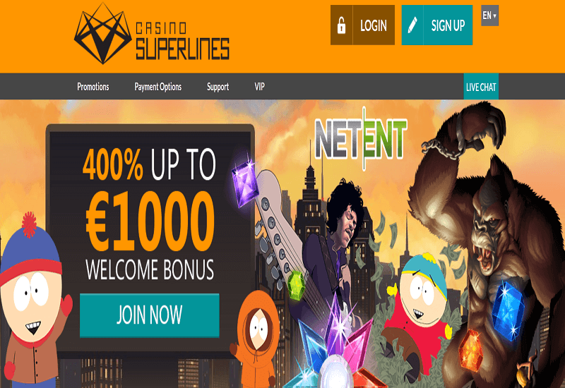 Superlines Casino Home Page