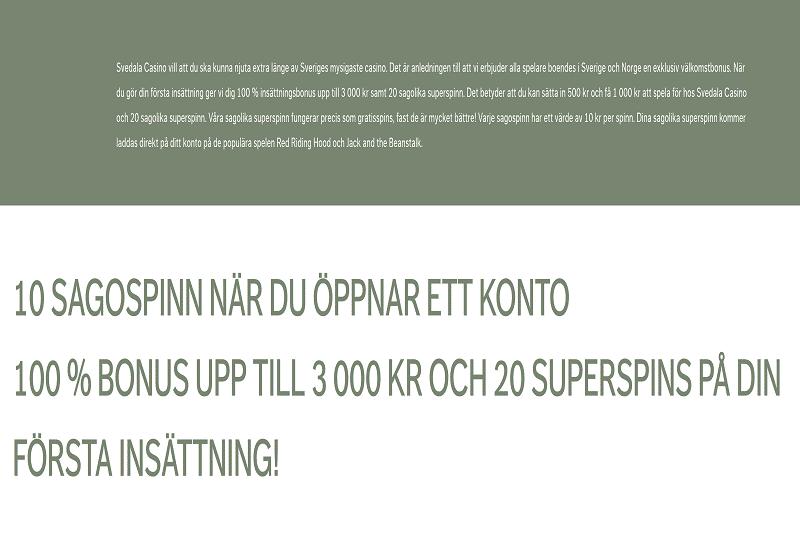 Svedala Casino Promotion