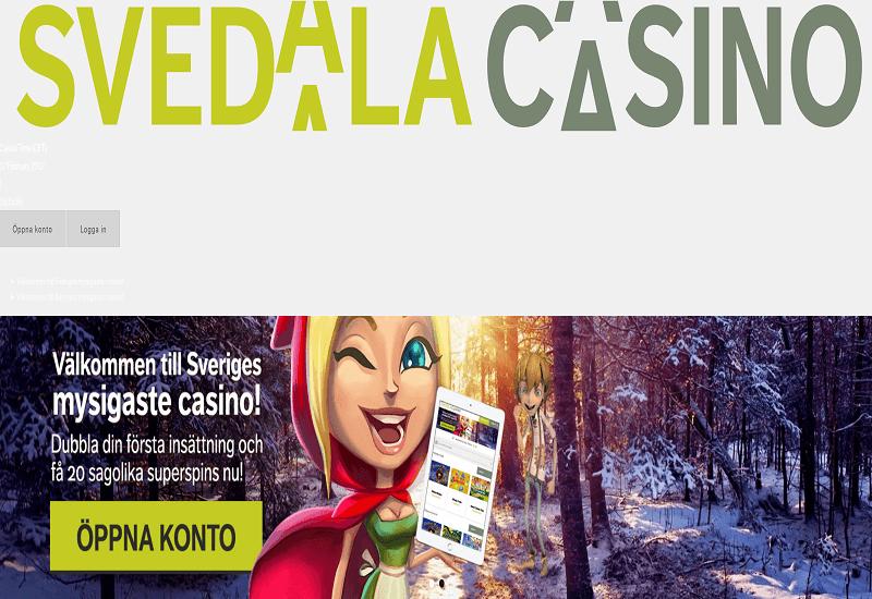 Svedala Casino Home Page