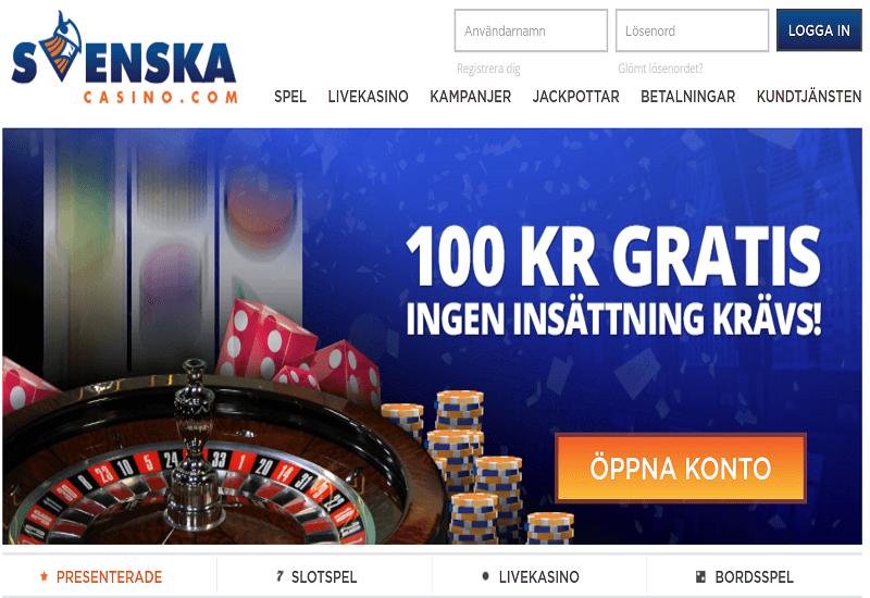Svenska Casino Home Page