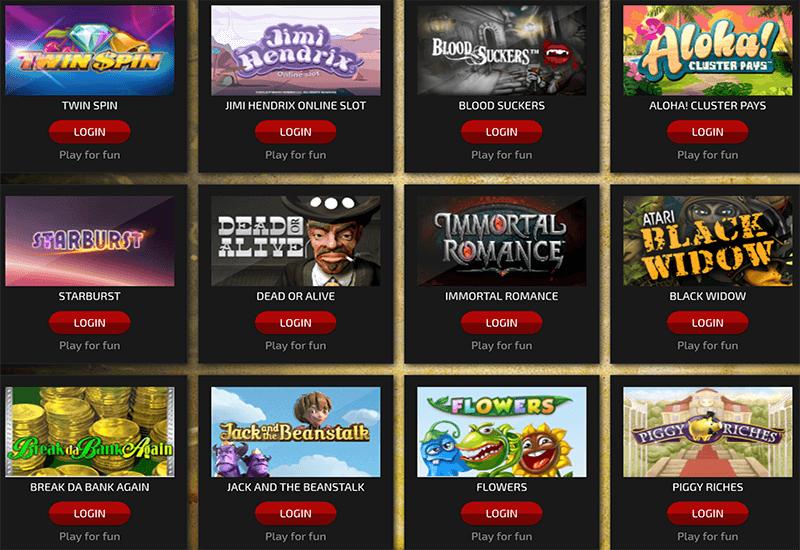 Trada Casino Video Slots