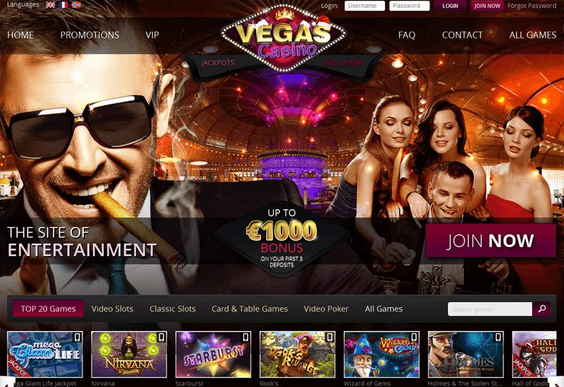 Vegas Casino Home Page