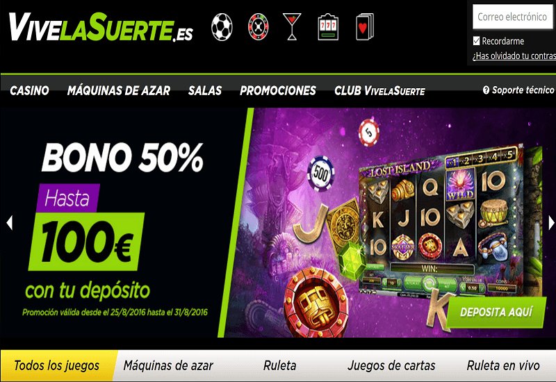 Vive La Suerte Casino Home Page