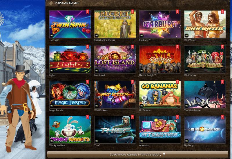 Wayne Casino Video Slots
