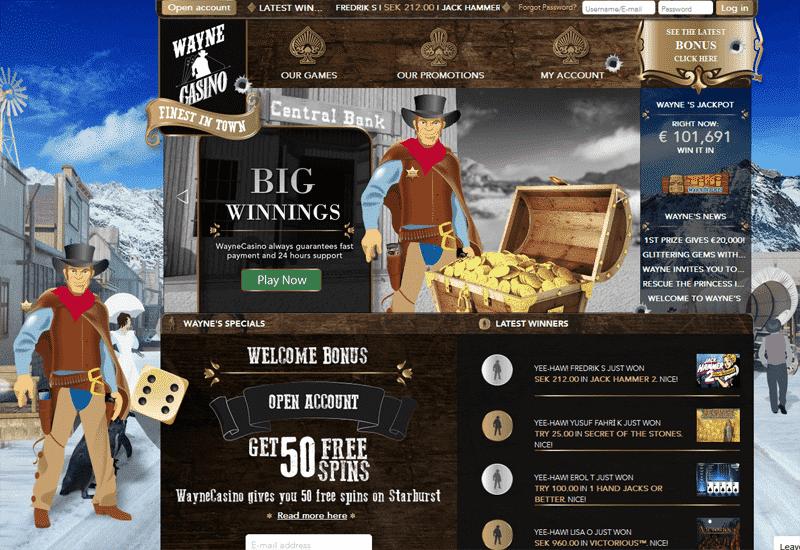 Wayne Casino Home Page