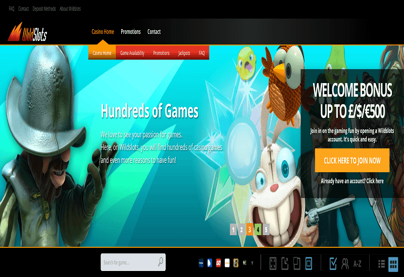 WildSlots Casino Home Page