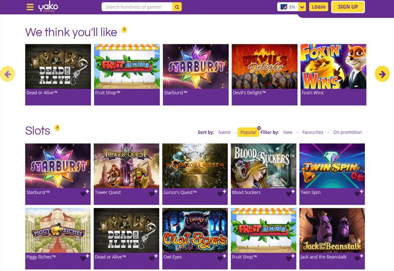 Yako Casino Video Slots
