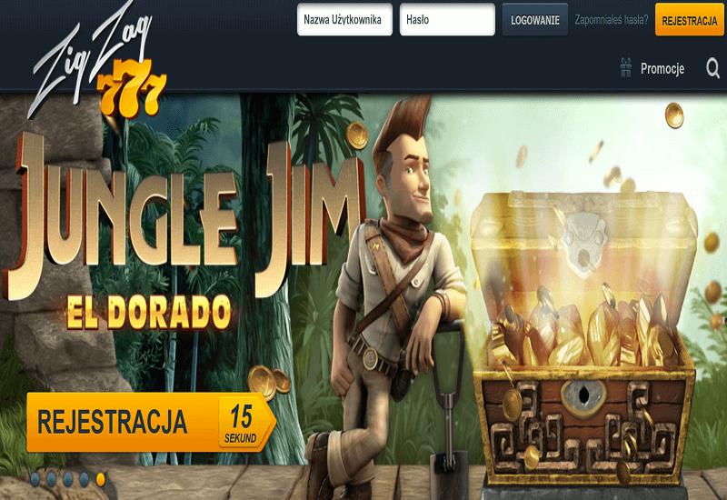 ZigZag777 Casino Home Page