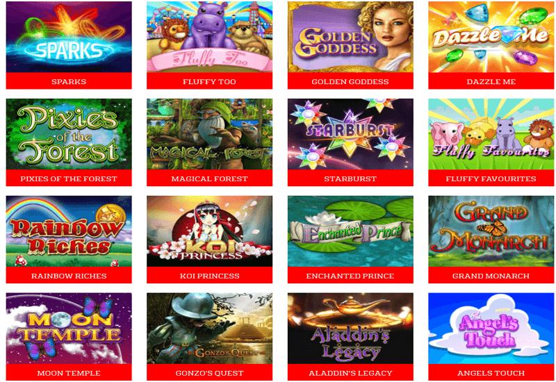 Zinger Bingo Casino Video Slots
