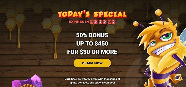 Bee Spins Casino Promotion