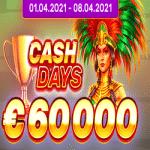 Boo Casino - Cash Days: €60,000 Tournament