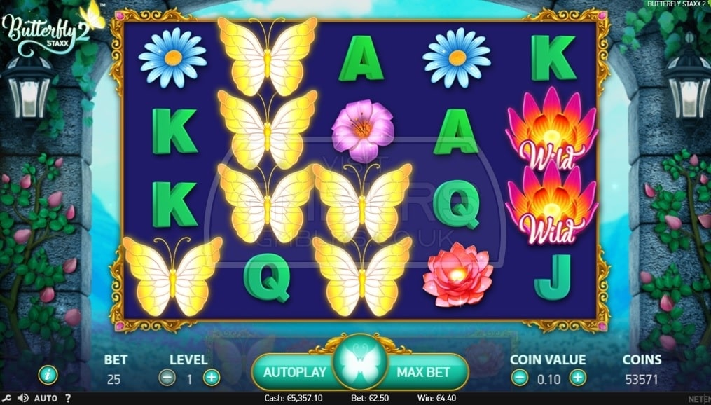 Butterfly Staxx 2 Video Slot - NetEnt