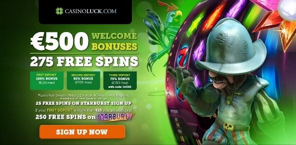 CasinoLuck bonus & free spins