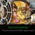 CasinoLuck: Solid Gold Raffle - Win a 1KG bar