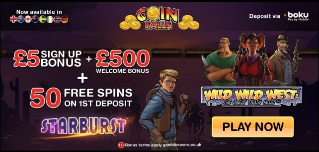 Coin Falls promotions