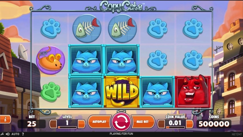 Copy Cats Video Slot from NetEnt
