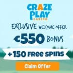 Craze Play Casino Bonus And  Review  Promotion
