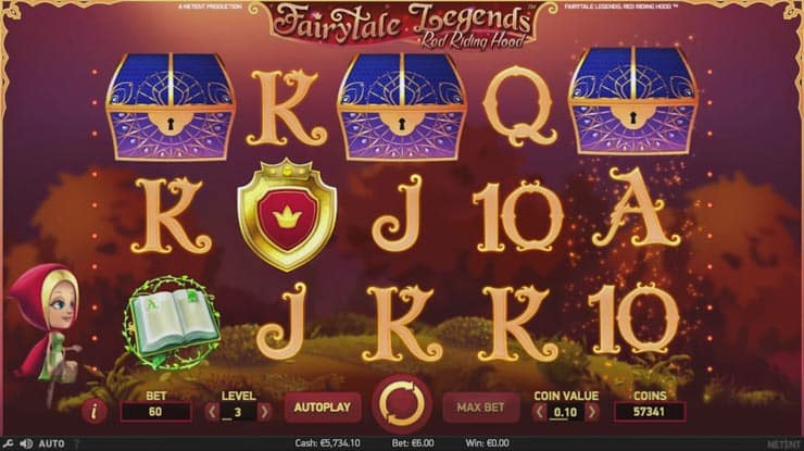 Fairytale Legends: Red Riding Hood Video Slot from NetEnt