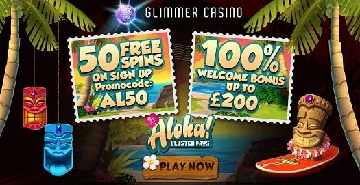 Glimmer Casino bonus & free spins