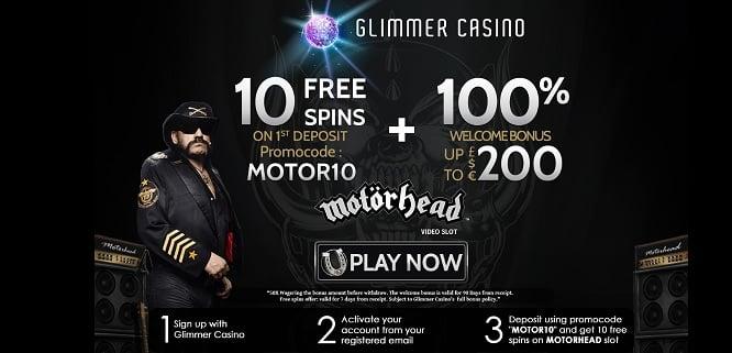 Glimmer Casino free spins + bonus
