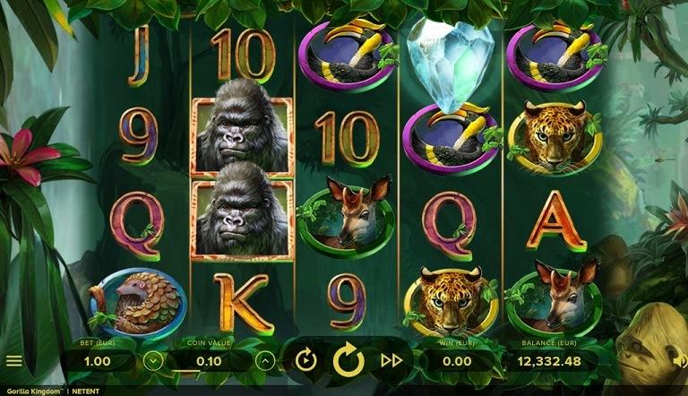 Gorilla Kingdom Video Slot - NetEnt