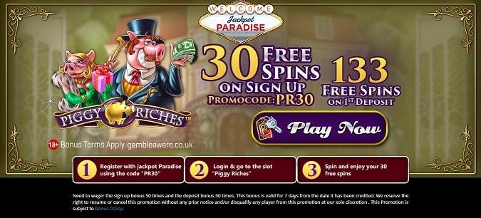 Jackpot Paradise free spins