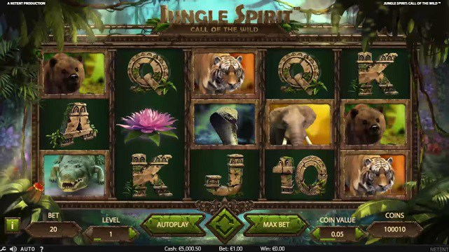 Jungle Spirit: Call of the Wild Video Slot from NetEnt
