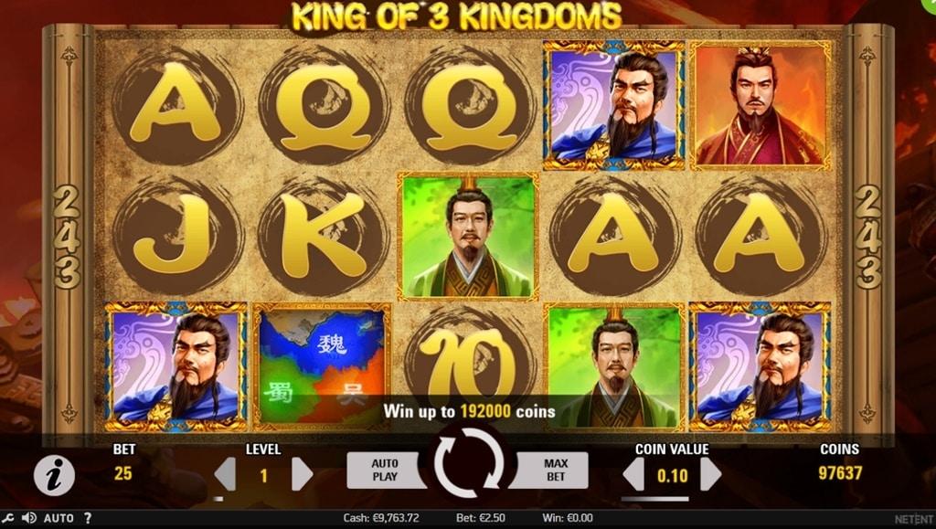 King of 3 Kingdoms Video Slot - NetEnt