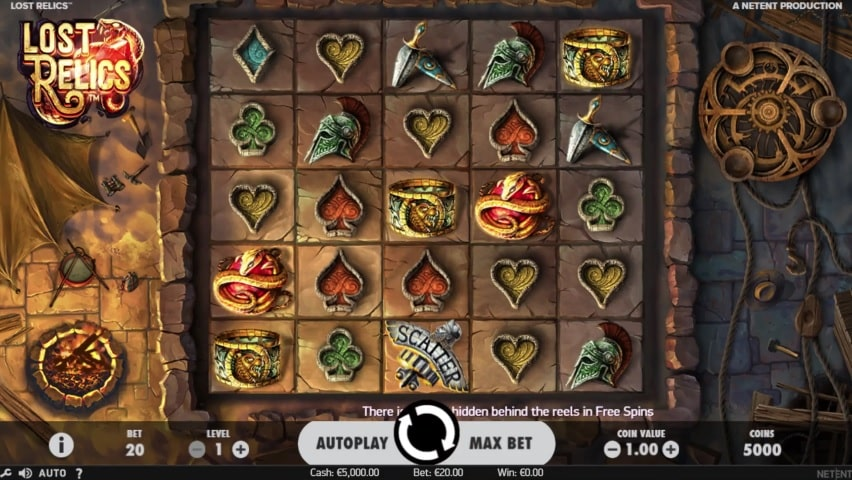 Lost Relics Video Slot - NetEnt